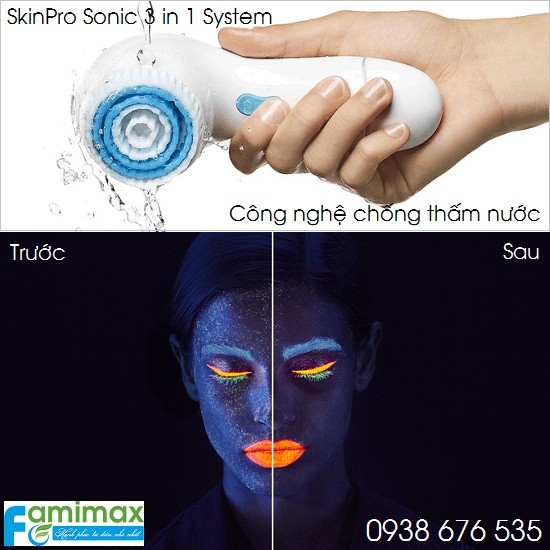 Máy rửa mặt Oriflame SkinPro Sonic 3 in 1 System