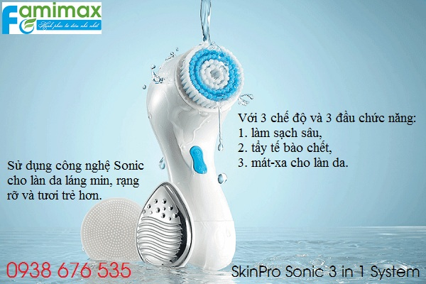 Máy rửa mặt Oriflame SkinPro Sonic 3 trong 1 System