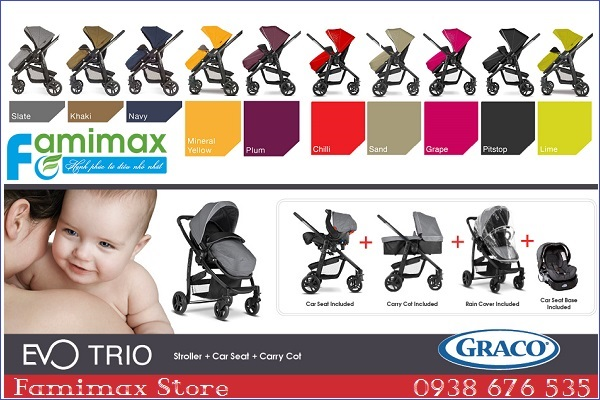 Xe đẩy Graco Evo Trio Travel System 3 in 1