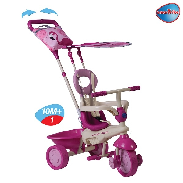 Xe đạp 3 bánh Smart Trike Safari Flamingo 4 in 1