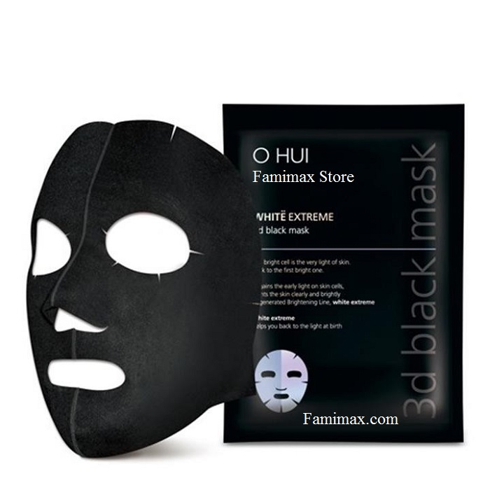 Mặt nạ Ohui Extreme White 3D Black Mask Snow Vitamin