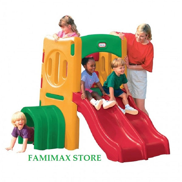 Cầu trượt Little Tikes Twin Slide Tunnel Climber