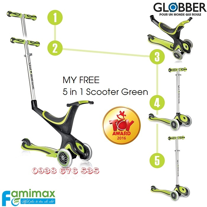 Xe scooter 3 bánh Globber Evo Comfort 5 in 1