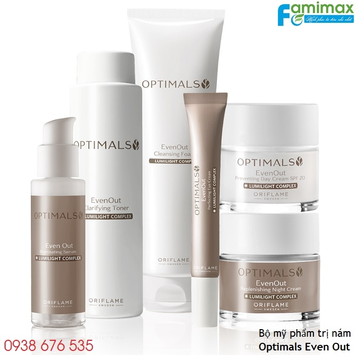 Bộ mỹ phẩm trị nám Oriflame Optimals Even Out