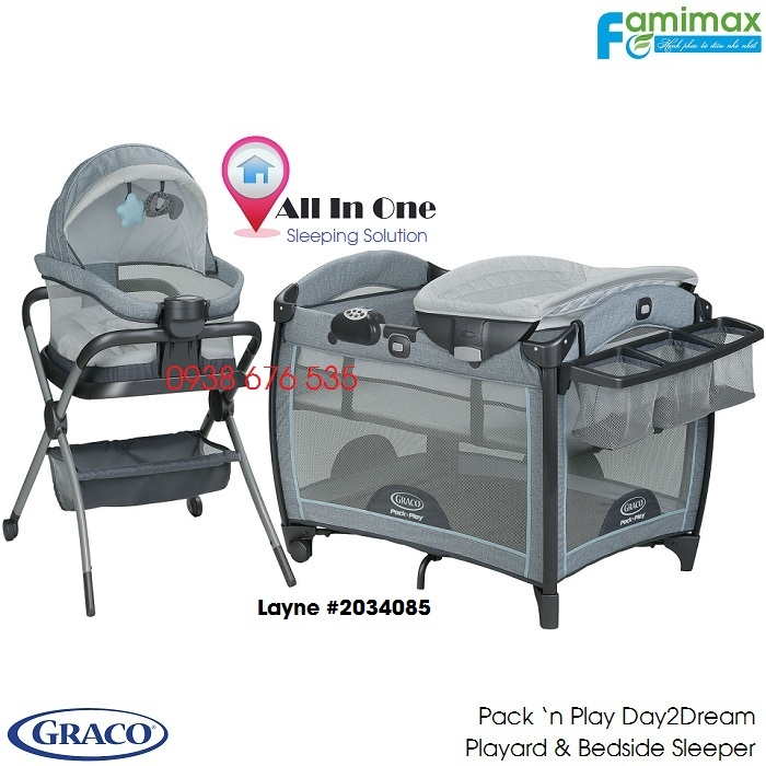 Nôi em bé Graco Day2Dream Playard 'n Bedside Sleeper