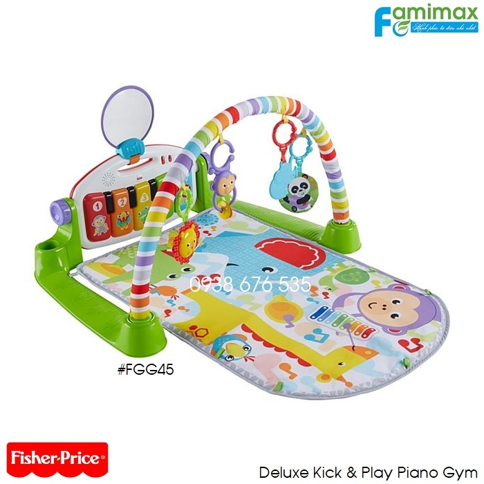 Thảm chơi Fisher Price Deluxe Kick & Play Piano Gym