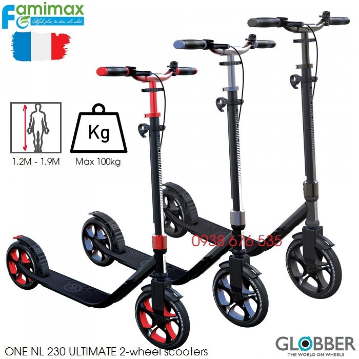Xe scooter 2 bánh Globber One NL 230 Ultimate