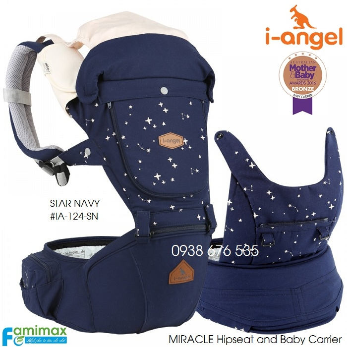 Địu ngồi cho bé I-Angel Miracle Hipseat & Carrier