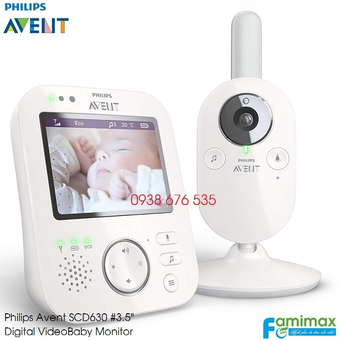 Máy báo khóc Philips Avent Digital Video SCD630