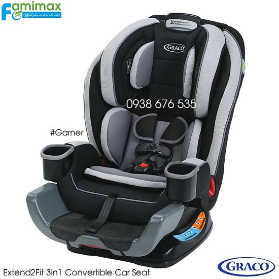 Ghế ngồi ô tô Graco Extend2Fit 3 in 1 Convertible